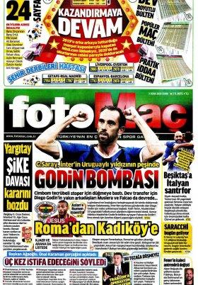 Spor Şöleni - 03.01.2020 Gazete Manşeti
